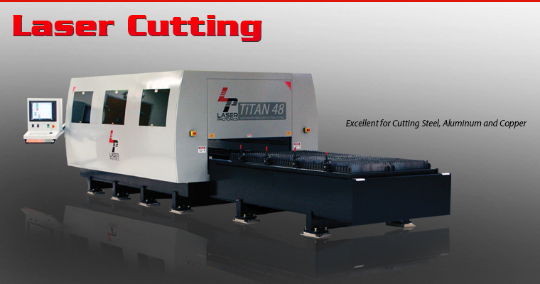 Titan Series of high power, large format industrial laser cutting equipment that features the latest in fiber laser cutting technology, motion system technology and CNC controls - all in one efficient, space saving unit.